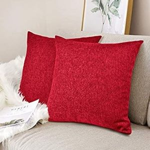 NWT 4 Pack UStyles Throw Pillow Covers Red 50x50